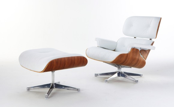 White Eames Lounge Chair and Ottoman | Guðrún Vald.s blog
