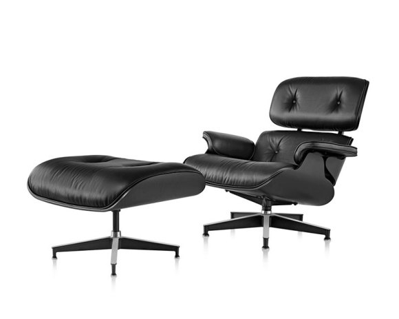 Black Eames Lounge Chair and Ottoman | Guðrún Vald.s blog