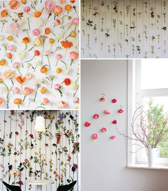 Tape flowers to the wall | Guðrún Vald.s blog