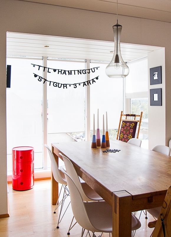 DIY Party Banner and Keilir candlestick by Gudrun Vald.